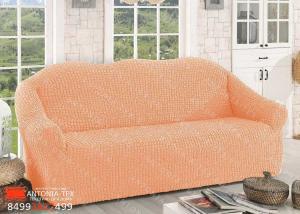 Чехол на диван Жатка без оборки (евро) Персик