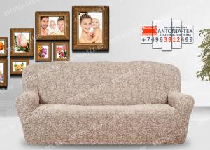 Чехол на диван Karteks буклированый жаккард без оборки WILDBERRIES-02