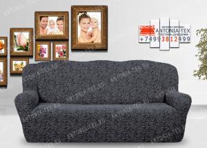 Чехол на диван Karteks буклированый жаккард без оборки WILDBERRIES-03