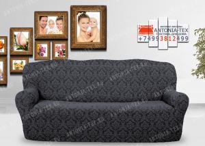 Чехол на диван Karteks буклированый жаккард без оборки DIADEMA-03