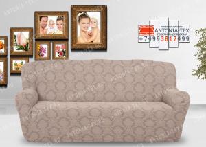 Чехол на диван Karteks буклированый жаккард без оборкиANTIQUE-02