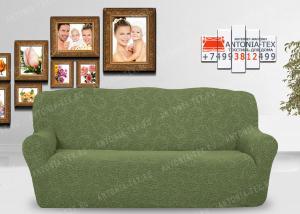 Чехол на диван Karteks буклированый жаккард без оборкиBREEZE-01