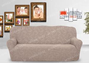 Чехол на диван Karteks буклированый жаккард без оборкиBREEZE-02