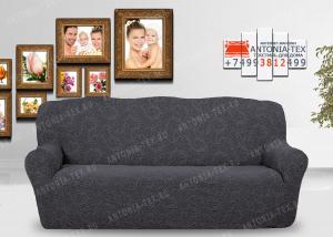 Чехол на диван Karteks буклированый жаккард без оборкиBREEZE-05