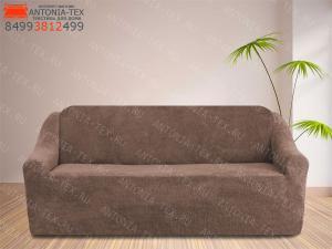 Чехол на диван плюшевый Venera Soft Какао