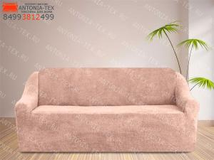 Чехол на диван плюшевый Venera Soft Пудра