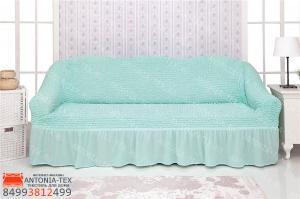 Чехол на диван с оборкойБирюзовый