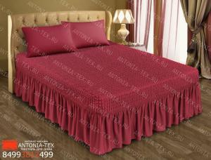 Чехол на кровать Жатка с оборкой Бордо
