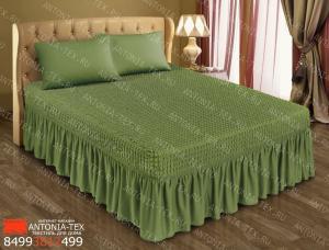 Чехол на кровать Жатка с оборкой Олива