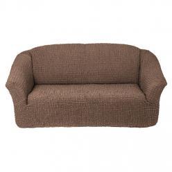 Чехол на диван без юбки на резинке, цвет Какао