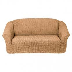 Чехол на диван без юбки на резинке, цвет Медовый