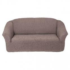Чехол на диван без юбки на резинке, цвет Жемчужный