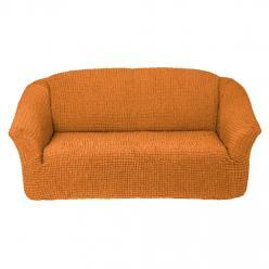 Чехол на диван без юбки на резинке, цвет Рыжий