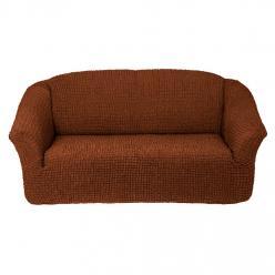 Чехол на диван без юбки на резинке, цвет Темно-рыжий