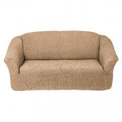 Чехол на диван без юбки на резинке, цвет Бежевый