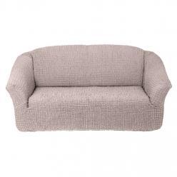 Чехол на диван без юбки на резинке, цвет Кремовый