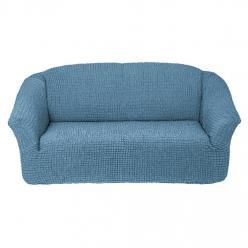 Чехол на диван без юбки на резинке, цвет Серо-голубой