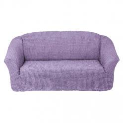 Чехол на диван без юбки на резинке, цвет Сиреневый