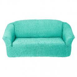 Чехол на диван без юбки на резинке, цвет Мятный