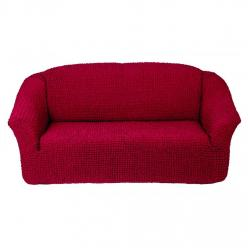 Чехол на диван без юбки на резинке, цвет Бордовый