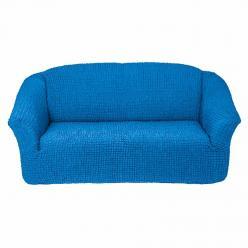 Чехол на диван без юбки на резинке, цвет Лазурный