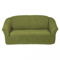 Чехол на диван без юбки на резинке, цвет Фисташковый