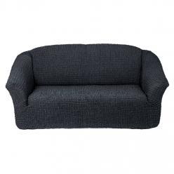 Чехол на диван без юбки на резинке, цвет Антрацит