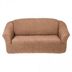 Чехол на диван без юбки на резинке, цвет Песочный