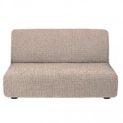 Чехол на диван без подлокотников на резинке, цвет Жемчужный
