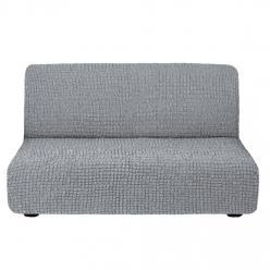 Чехол на диван без подлокотников на резинке, цвет Серый
