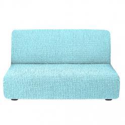 Чехол на диван без подлокотников на резинке, цвет Мятный
