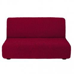Чехол на диван без подлокотников на резинке, цвет Бордовый