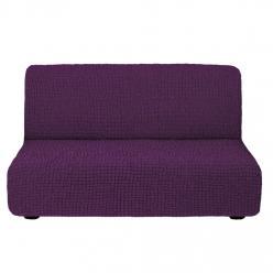 Чехол на диван без подлокотников на резинке, цвет Сливовый