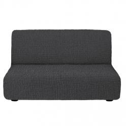 Чехол на диван без подлокотников на резинке, цвет Антрацит