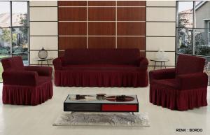 Чехол на трехместный диван и 2 кресла Altinkoza Бордо