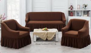 Чехол на трехместный диван и 2 кресла Juanna Коричневый