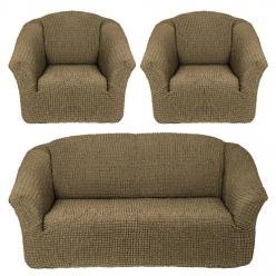 Чехлы на диван и кресла без юбки Болотный