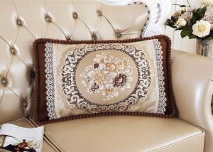 Декоративная наволочка с вышивкой бежевый