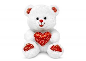 Медведь белый блестящий с сердцем муз.