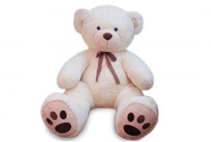Медведь ГИГАНТ белый с бантом