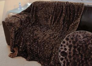 Меховой плед-покрывало Пузыри Шоколад