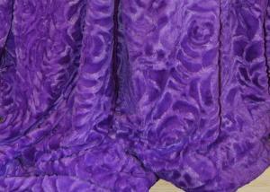 Меховой плед-покрывало Роза Фиолетовая