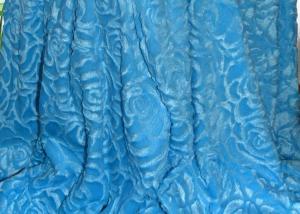 Меховой плед-покрывало Роза голубая