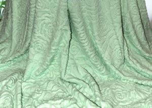 Меховой плед-покрывало Роза салатовая