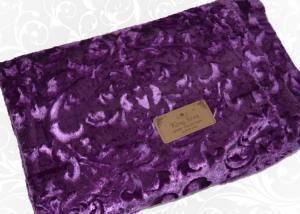 Меховой плед-покрывало Вензель Фиолетовый