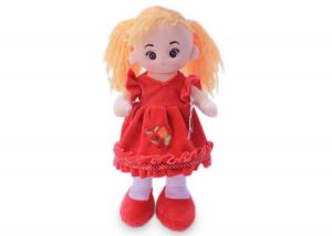 Мягкая кукла Алёна в красном платье муз.
