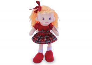 Мягкая кукла Ирина в красном платье муз.
