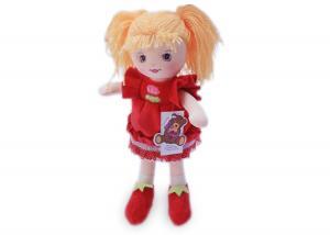 Мягкая кукла Катя в красном платье муз.
