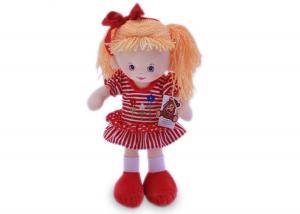 Мягкая кукла Нина в красном платье муз.