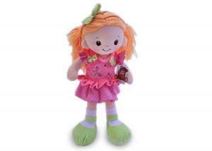 Мягкая кукла Ольга в красном платье муз.